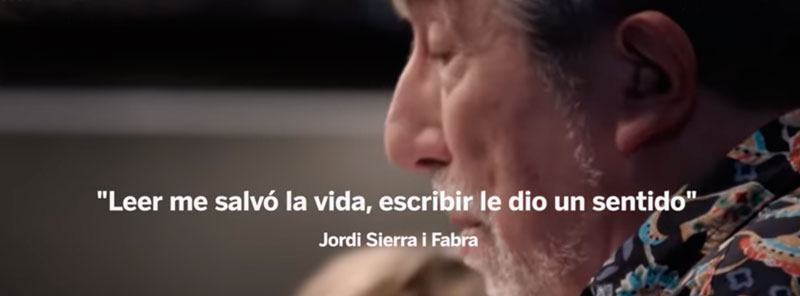 Leer me salvó la vida, escribir le dio un sentido – Jordi Sierra i Fabra, escritor